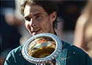 Nadal arrasa Federer e  campeo do Masters de Roma pela 7 vez (AFP PHOTO / FILIPPO MONTEFORTE )