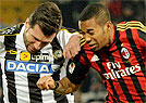 Milan de Robinho sofre rev�s para Udinese na It�lia (AFP PHOTO / GIUSEPPE CACACE )
